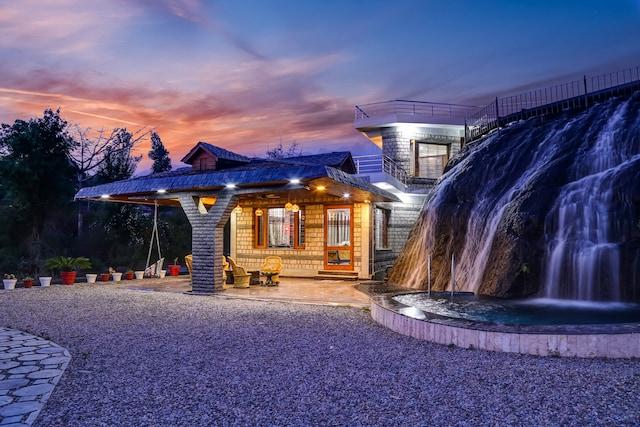 Belvilla 3BHK Modern Villa with Mini Waterfall and Lawn